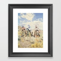 The Unknown Riders in The Guilty Ones Framed Art Print
