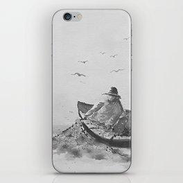 Off The Coast of Newfoundland (BnW) iPhone Skin