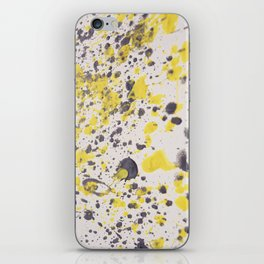 Yellow Grey Classic Abstract Art iPhone Skin