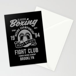 clasic boxing club Stationery Cards