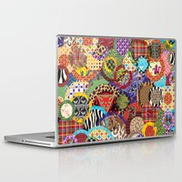 quilt Laptop & iPad Skins featuring Quilt Doodle by DesignsByMarly