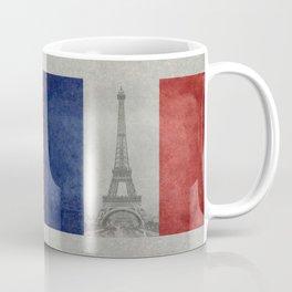 Flag of France with Eiffel Tower Coffee Mug