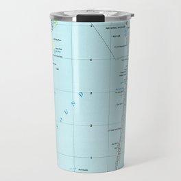 Vintage Southern Outer Banks Map (1957) Travel Mug