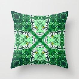 Emerald Leopard  Throw Pillow