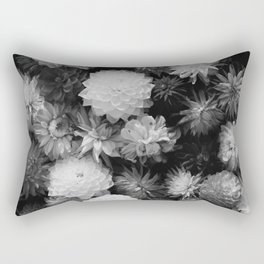 In Bloom (Black and White) Rectangular Pillow