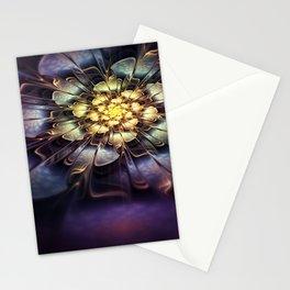 Flower light effect Stationery Cards