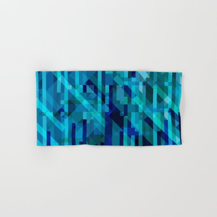 abstract composition in blues Hand & Bath Towel