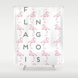 Flamingos #5 Shower Curtain