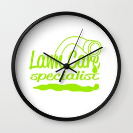 Lawn Care Specialist Wall Clock