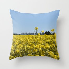 Yellow Canola Fields Throw Pillow