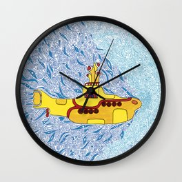 My Yellow Submarine Wall Clock