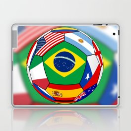 Ball With Various Flags Laptop & iPad Skin