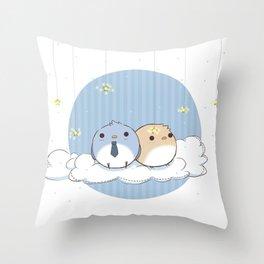 Bird!Destiel Throw Pillow