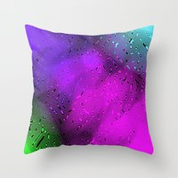 bubbles Throw Pillows featuring Bubbles by Abstract Designs