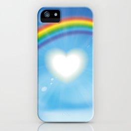 Rainbow sky sun heart iPhone Case