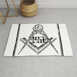 Square and Compass Rug