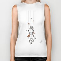 burlesque Biker Tanks featuring Burlesque by Libby Watkins Illustration