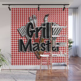 Grill Master with BBQ Tools Wall Mural