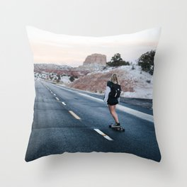 road cruse Throw Pillow