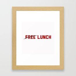 FREE LUNCH 3 Framed Art Print