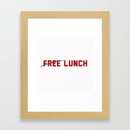 FREE LUNCH 3 Framed Art Print
