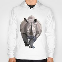 rhino Hoodies featuring Rhino by Liam Brazier