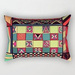 African Style No18 Rectangular Pillow