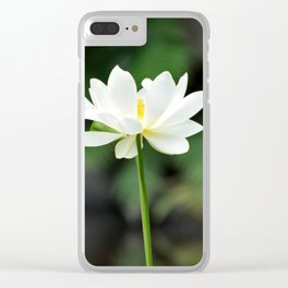 White Lotus Clear iPhone Case