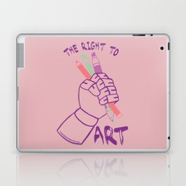 The Right to Art- pink Laptop & iPad Skin