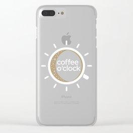 Coffee o'clock Clear iPhone Case