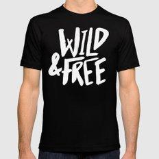 Wild and Free II Black Mens Fitted Tee MEDIUM