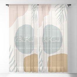 Kind Minimalist Abstract Sheer Curtain