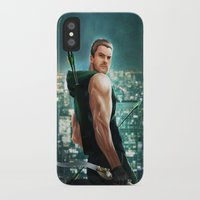 arrow iPhone & iPod Cases featuring Arrow by Meder Taab