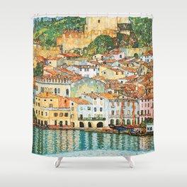 "Gustav Klimt ""Malcesine on Lake Garda"" Shower Curtain"