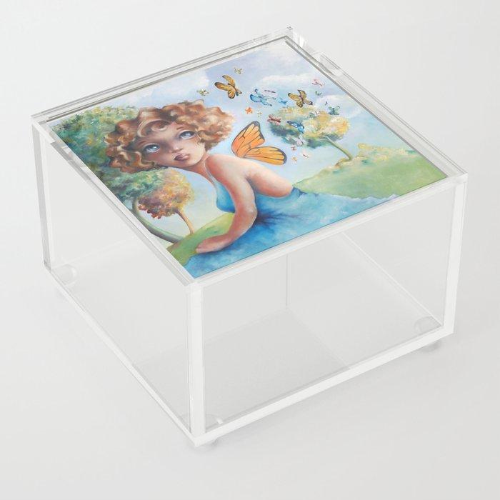 Amelia, Courage to Fly Acrylic Box