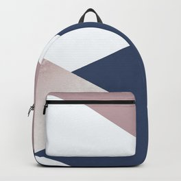 Geometrics - blush indigo rose gold Backpack