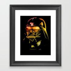 STAR WARS Darth Vader on black Framed Art Print