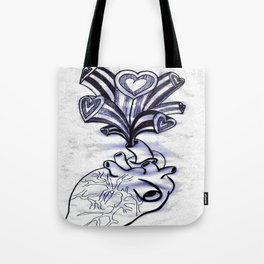 My Heart Overflows Tote Bag