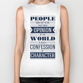 Lab No. 4 People Seem Not to Ralph Waldo Emerson Inspirational Quote Biker Tank