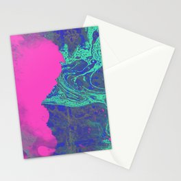 Under The Sea - Abstract Painting Stationery Cards