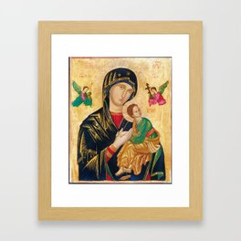 Our Mother of Perpetual Help Virgin Mary Framed Art Print