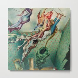 Avatar (All the tricks a girl has to do) by Dorothea Tanning Metal Print