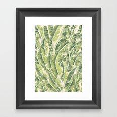 Banana Leaf Pattern Framed Art Print