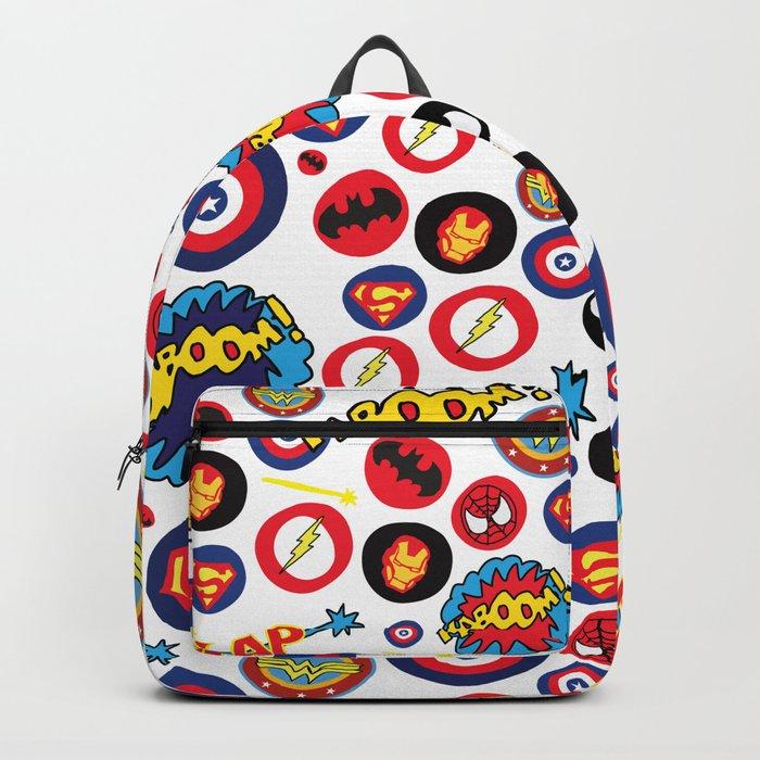 Superhero Stickers Backpack