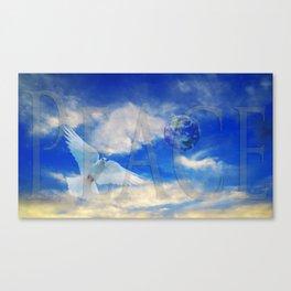 Peace - White Dove Art - Sharon Cummings Canvas Print