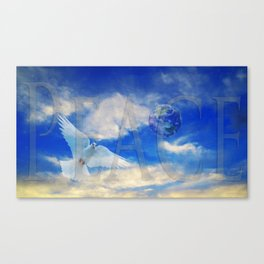 Peace - White Dove Art - Sharon Cummings Canvas Print