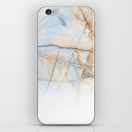 Cotton Latte Marble - Ombre blue and ivory iPhone Skin