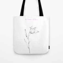 A flower of flour Tote Bag