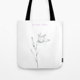 A flower of flour Tote Bag