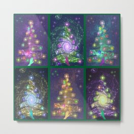 Christmas greetings from the cosmos Metal Print